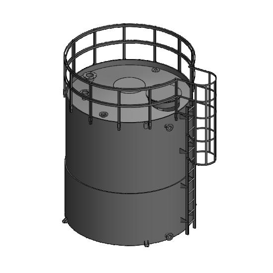 Depósitos verticais de armazenamento de produtos diluídos