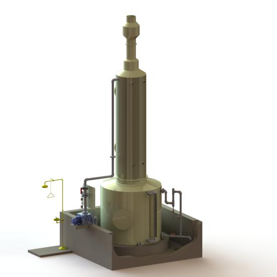 Sistemas de Neutralização de fugas de Cloro-Gás